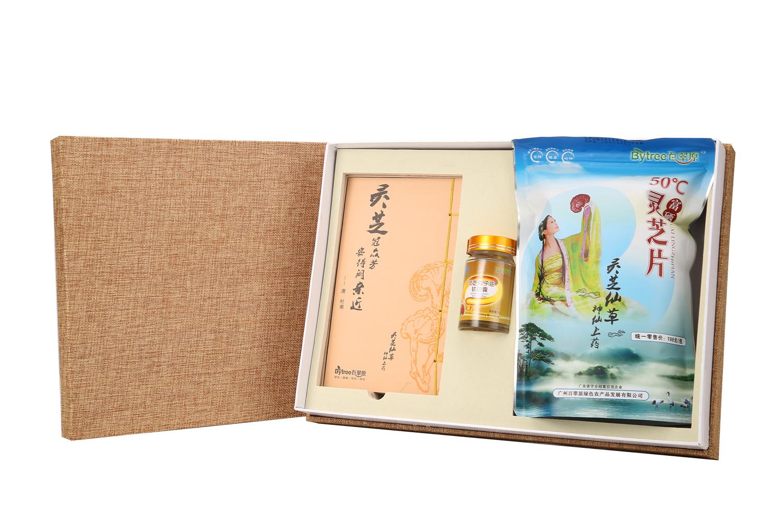 礼盒(百翠原灵芝片+灵芝孢子油)